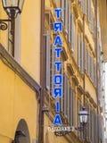 意大利语Trattoria在历史的区佛罗伦萨-佛罗伦萨/意大利- 2017年9月12日 免版税库存照片