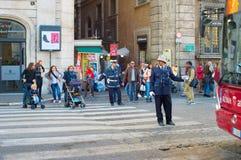 意大利路警察 免版税图库摄影