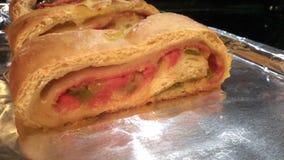 意大利辣味香肠面包 库存照片