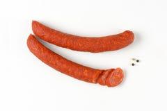 意大利辣味香肠香肠 免版税库存照片