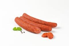 意大利辣味香肠香肠 免版税图库摄影