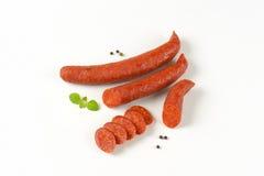 意大利辣味香肠香肠 免版税库存图片