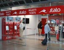 意大利运输公司Italo售票处 库存图片
