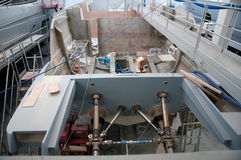 意大利造船厂 免版税图库摄影