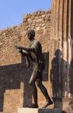 意大利那不勒斯庞贝城罗马废墟 图库摄影