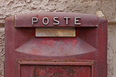 意大利邮箱红色 免版税库存照片