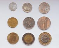 意大利里拉硬币 免版税图库摄影