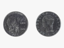 意大利里拉硬币 免版税库存照片