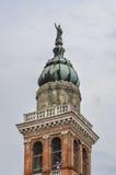 意大利钟楼在阿德里亚,罗维戈 库存照片