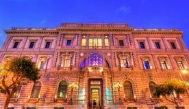 意大利银行大厦在老镇巴勒莫,西西里岛 库存图片