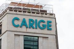 意大利银行邦卡Carige 库存图片