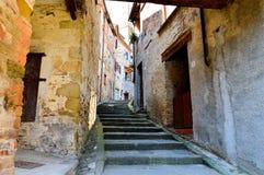 意大利镇的街道 免版税库存照片