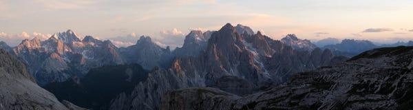 意大利阿尔卑斯、Marmarole和Cadini 免版税库存图片