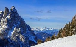 意大利阿尔卑斯在冬天 图库摄影