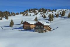 意大利阿尔卑斯在冬天 库存照片