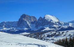 意大利阿尔卑斯在冬天 免版税图库摄影