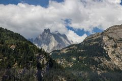 意大利阿尔卑斯的高山 免版税库存图片