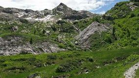 意大利阿尔卑斯的Panarama视图 影视素材