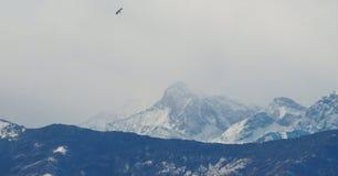 意大利阿尔卑斯看法在瓦莱达奥斯塔,意大利 库存照片