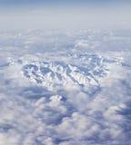 意大利阿尔卑斯鸟瞰图  库存照片