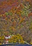 意大利阿尔卑斯,秋天颜色 免版税库存照片