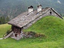 意大利阿尔卑斯; 瓦尔d'Otro 库存图片