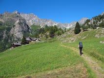 意大利阿尔卑斯; 瓦尔d'Otro 免版税库存照片