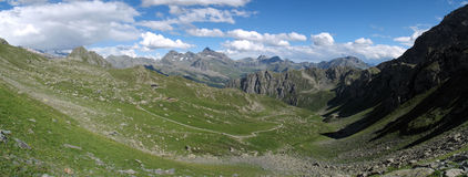 意大利阿尔卑斯; Val Tournalin 免版税库存图片