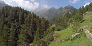 意大利阿尔卑斯; Val Vogna 免版税图库摄影
