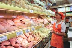 意大利面包店商店 库存照片
