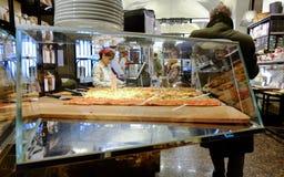意大利面包店 库存照片