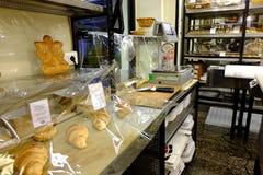 意大利面包店 库存图片