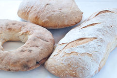 意大利面团和家制面包不同的品种  免版税库存图片