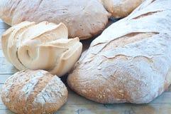 意大利面团和家制面包不同的品种  图库摄影