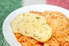 意大利面团膳食 图库摄影