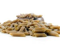意大利面食全部penne的麦子 免版税库存图片