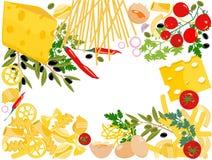 意大利面食向量 皇族释放例证