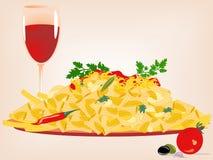 意大利面食向量 库存照片