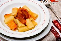 意大利面食和胡椒 库存图片