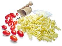 意大利面食和蕃茄 图库摄影