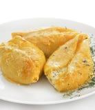 意大利面食壳充满干酪 免版税库存图片