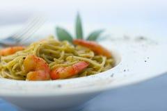 意大利面食大虾系列 图库摄影