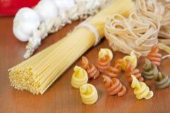 意大利面食意粉多种分类 免版税图库摄影