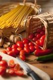 意大利面食成份 免版税库存图片