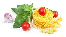意大利面食成份 图库摄影
