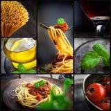 意大利面食拼贴画 库存照片