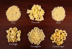意大利面食收集3。 库存图片