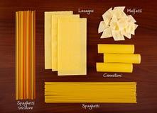 意大利面食收集4。 库存图片