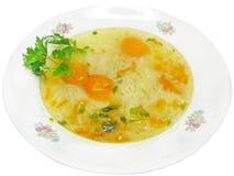 意大利面食汤蔬菜 图库摄影