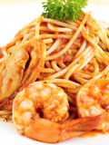 意大利面食海鲜 免版税库存图片
